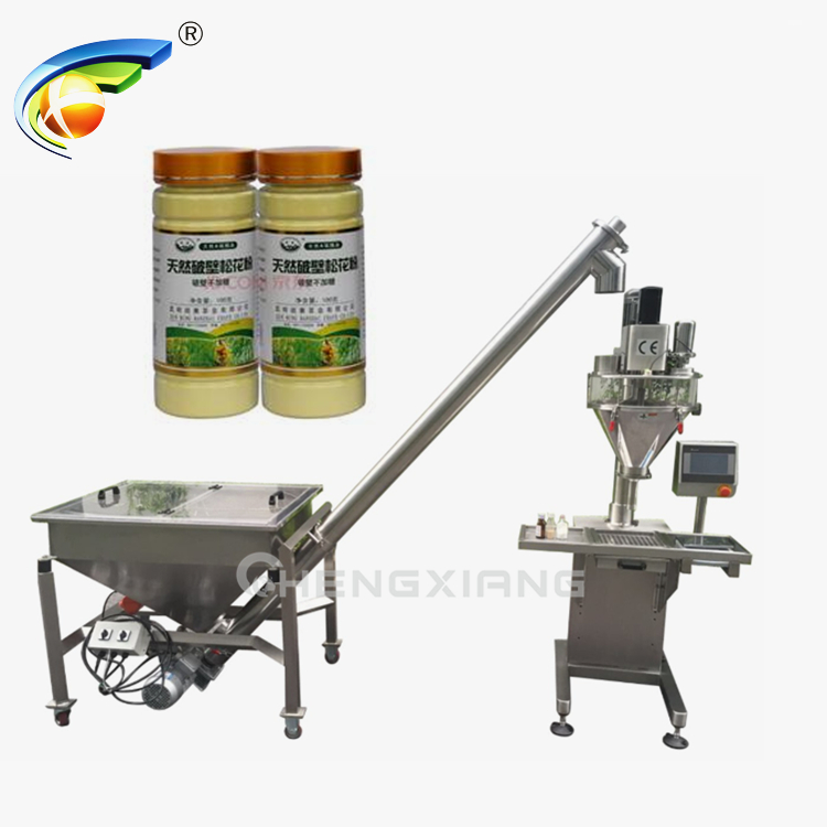 Semi autoamtic auger powder filling machine Featured Image