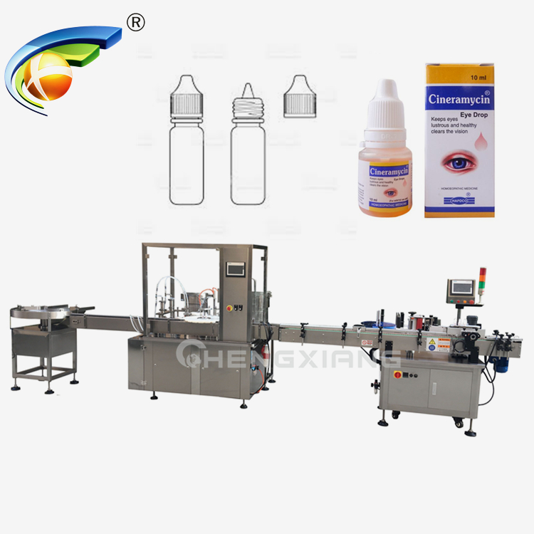 Chengxiang eye drop filling machine,filling capping and labeling machine Featured Image
