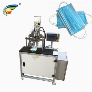 Semi automatic Disposable Mask Earloop Strips Spot Welding Machine