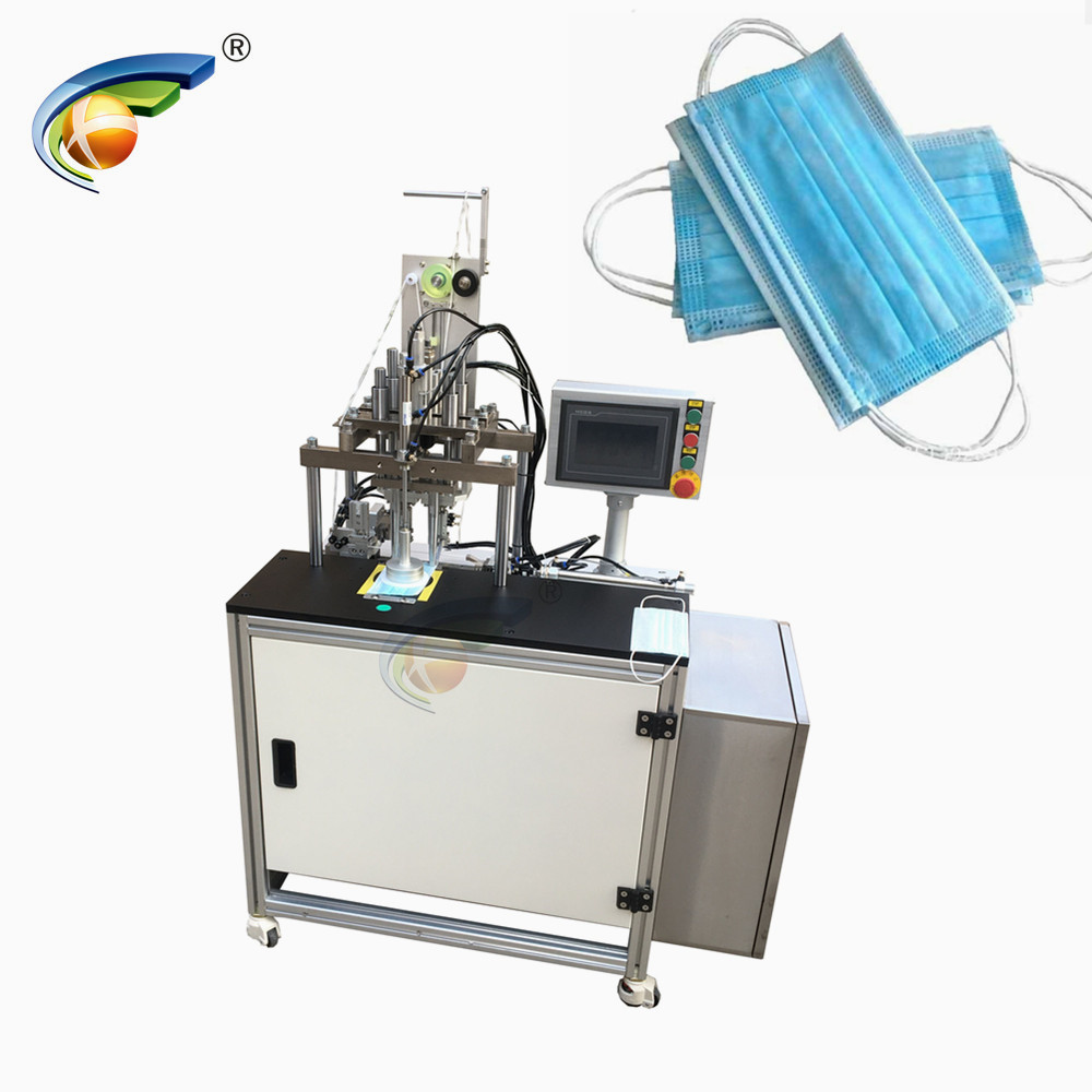 Semi automatic Disposable Mask Earloop Strips Spot Welding Machine Featured Image