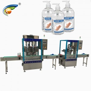 Automatic 500ml hand sanitizer filler capper,hand sanitizer filling labeling machine for 1liter