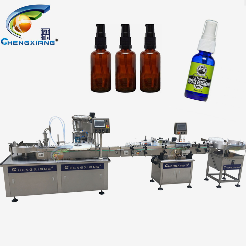 Factory price fully automated liquid filling machine,automatic desinfect alcohol bottle filling line Featured Image