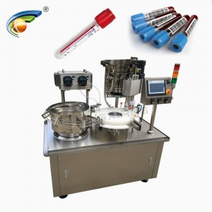 Shanghai factory automatic rapid test kits plastic vial filling capping and labeling machine line price