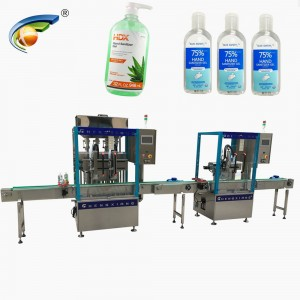 Automatic flat bottle hand sanitizer gel filling capping machine,75% alcohol hand sanitizer gel filling machine