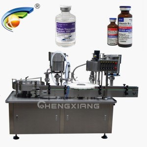 Vials filling plugging and capping machine
