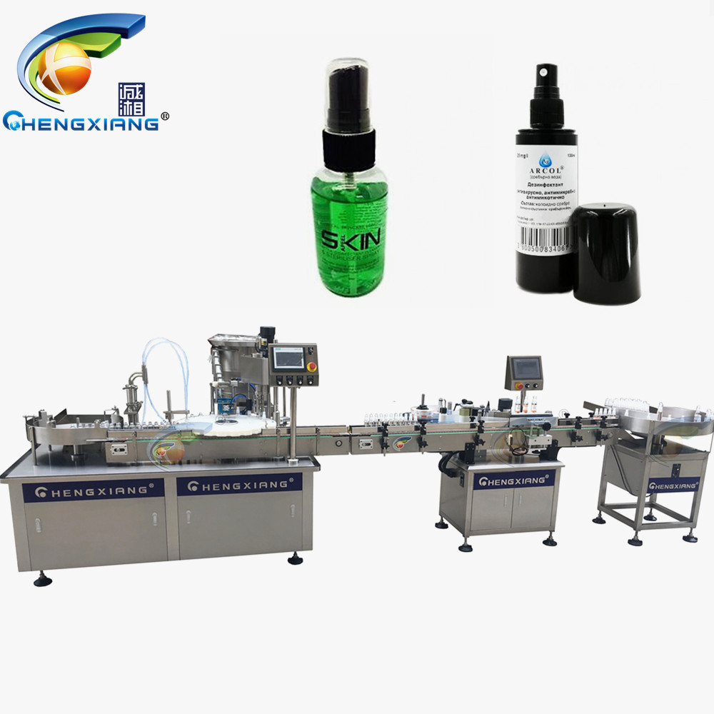 CHENGXIANG 75% alcohol filling capping machine,bottling and capping machine 50ml Featured Image