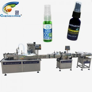 Factory price 30ml bottle filling lines,75% alcohol spray filling capping machine