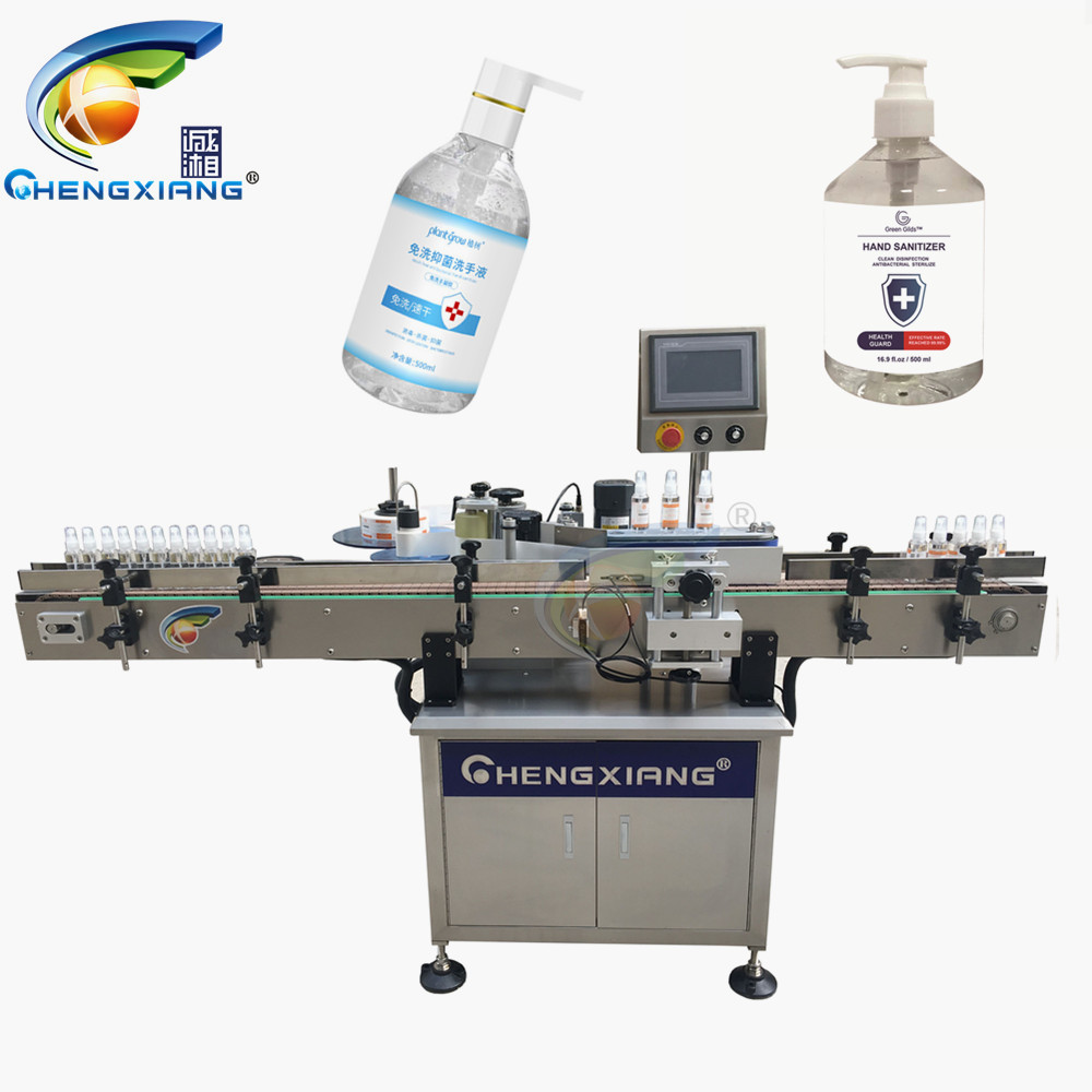 Hot sell disinfectant hand sanitizer gel labeling machine,1000ml hand sanitizer labeling machine Featured Image