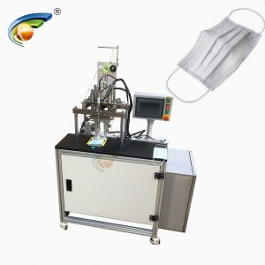 Semi automatic outer earloop face mask welding machine