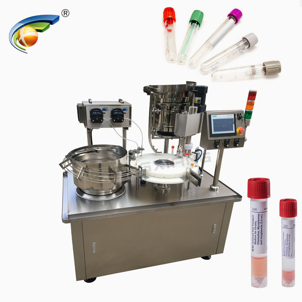 CHENGXIANG blood test tube filling and capping machine,testing kits filling capping machine Featured Image