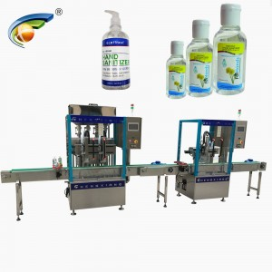 Automatic filling capping machine line for hand sanitizer,gel sanitizer filling machine