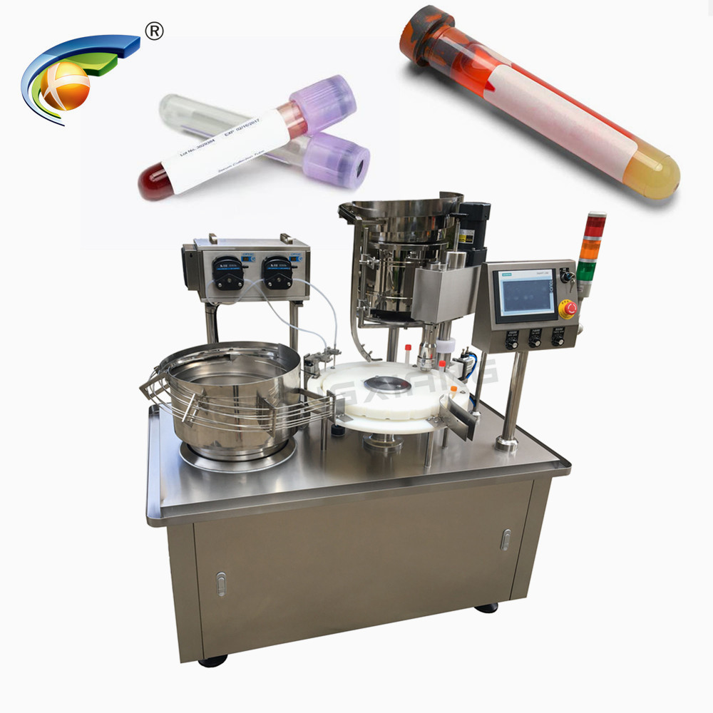 CHENGXIANG test kit cartridge filling capping machine,plastic vial filling capping labeling machine Featured Image
