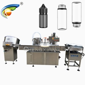 Automatic e liquid filling capping labeling machine