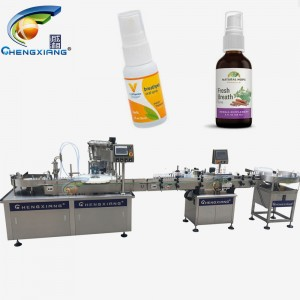 Factory price oral liquid spray filling machine,filling capping labeling line