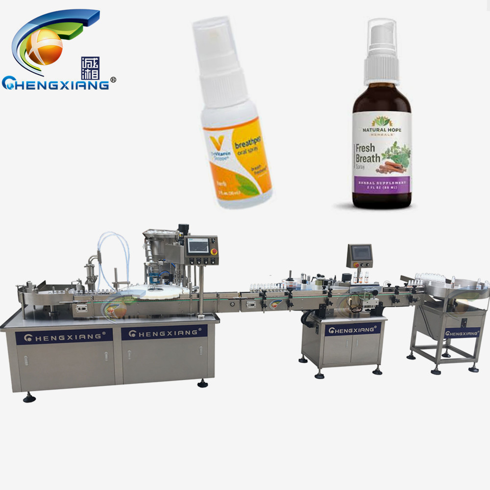 Factory price oral liquid spray filling machine,filling capping labeling line Featured Image