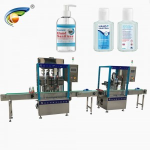 Automatic alcohol free sanitizer bottling machine,sanitizer bottle 30 ml filling capping machine