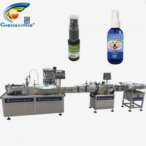 Factory price alcohol spray bottle filling capping labeling machine 100ml,50ml filling machine