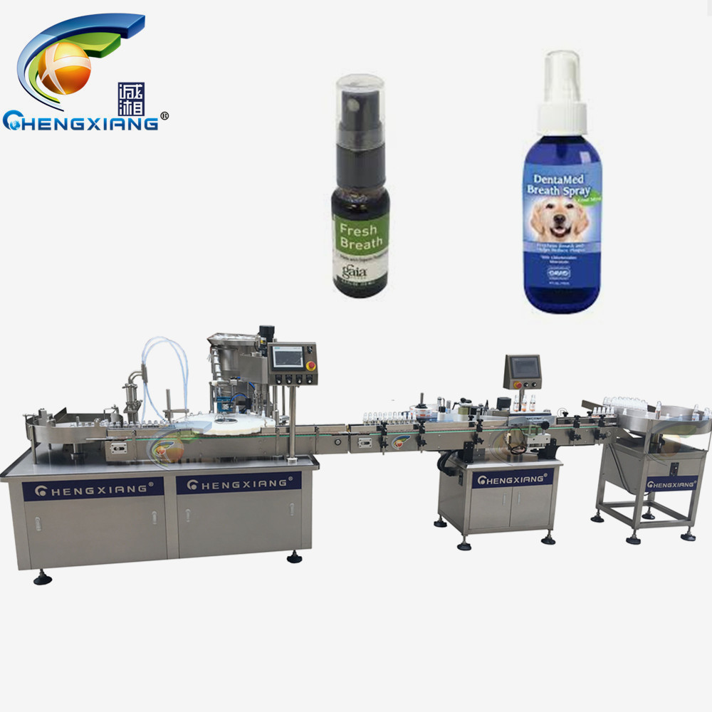 Factory price alcohol spray bottle filling capping labeling machine 100ml,50ml filling machine Featured Image