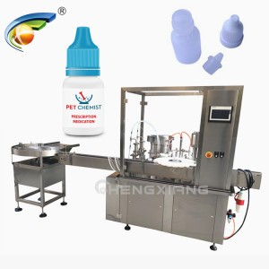 Automatic eye drop filling capping labeling machine