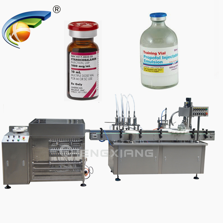 Factory customized vial filling machine,bottle washing filling capping and labeling machine Featured Image