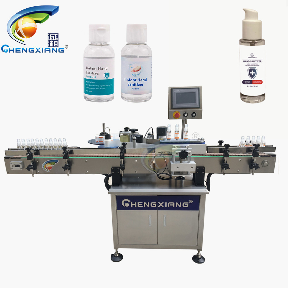 Hot sell 500ml alcohol hand sanitizer gel labeling machine Featured Image
