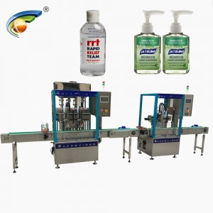 CX-GFT Automatic hand sanitizer filling production line,bottling machine for hand sanitizer 60ml