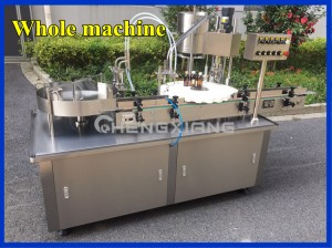 Automatic syrup filling and capping machine