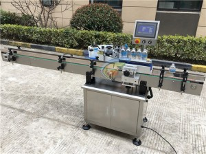 In stock Vertical Round Bottle Labeling Machine,1000ml hand sanitizer labeling machine