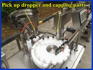 Automatic glass dropper filling and capping machine,filling machine e-liquid