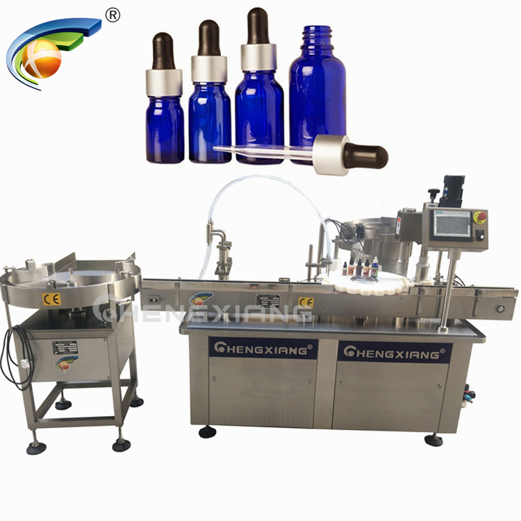 Automatic glass dropper filling and capping machine,filling machine e-liquid Featured Image