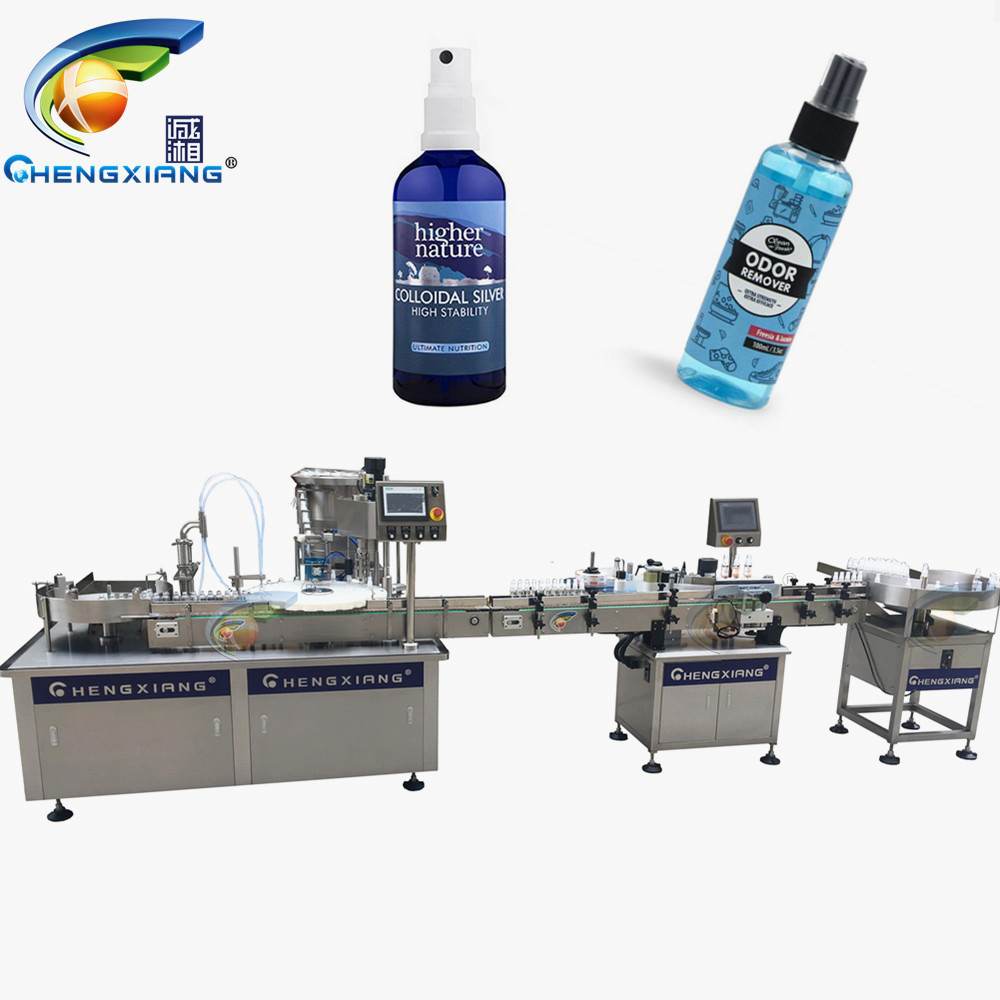 GMP Standard alcohol disinfectant spray filling machine,bottle filling machine 50-300ml Featured Image