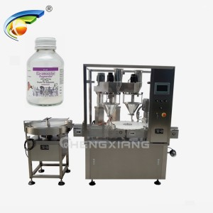Double heads auger powder filling & capping machine