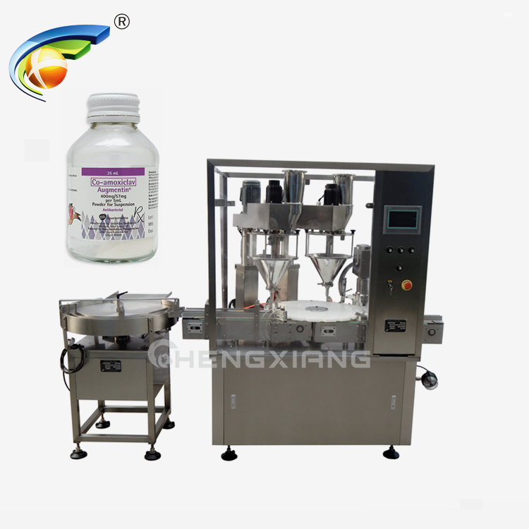 Double heads auger powder filling & capping machine Featured Image