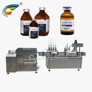Vial washing and filling machine